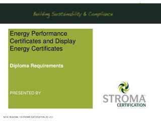 Energy Performance Certificates and Display Energy Certificates