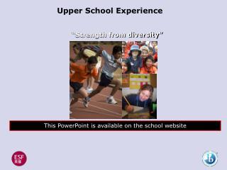 Upper School Experience