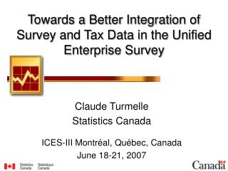 Towards a Better Integration of Survey and Tax Data in the Unified Enterprise Survey