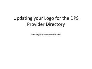 Updating your Logo for the DPS Provider Directory