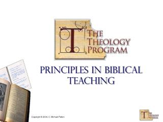 Principles in Biblical Teaching