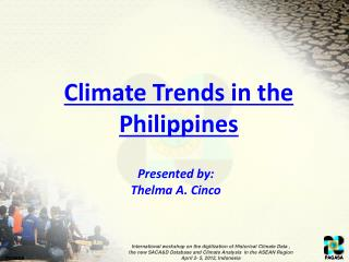 Climate Trends in the Philippines