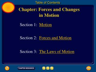 Chapter: Forces and Changes  		 in Motion