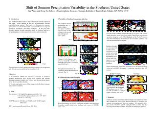 Shift of Summer Precipitation Variability in the Southeast United States