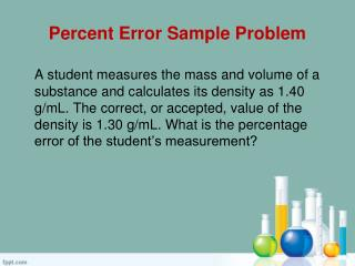 Percent Error Sample Problem