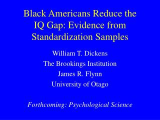 Black Americans Reduce the  IQ Gap: Evidence from Standardization Samples