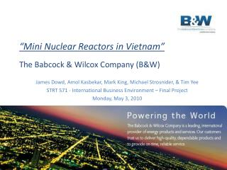 """Mini Nuclear Reactors in Vietnam"""