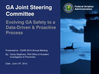 GA Joint Steering Committee