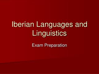Iberian Languages and Linguistics