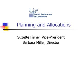 Planning and Allocations
