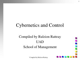 Cybernetics and Control