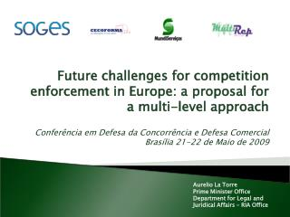 Future challenges for competition enforcement in Europe: a proposal for a multi-level approach