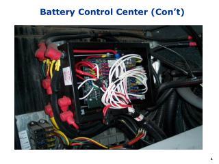 Battery Control Center Con t