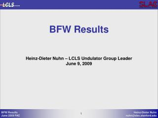 BFW Results