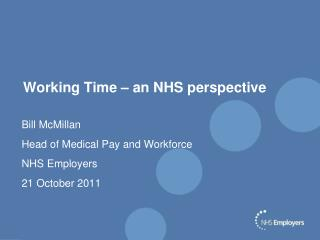 Working Time – an NHS perspective