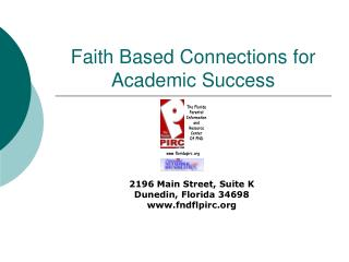 Faith Based Connections for Academic Success