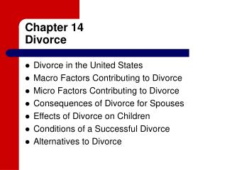 Chapter 14 Divorce