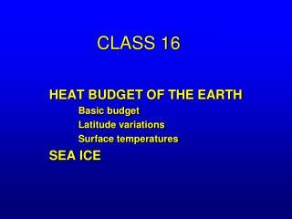 CLASS 16