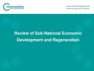 Review of Sub-National Economic Development and Regeneration