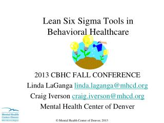 Lean Six Sigma  Tools  in Behavioral Healthcare