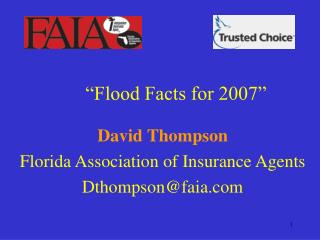 Flood Facts for 2007