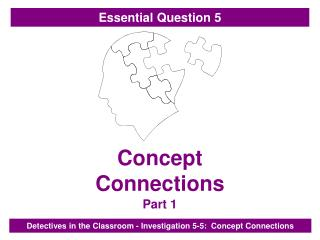 Concept                  Connections