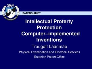 Intellectual Proterty Protection   Computer–implemented Inventions
