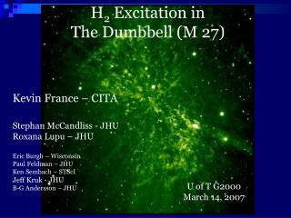 H 2  Excitation in  The Dumbbell (M 27)