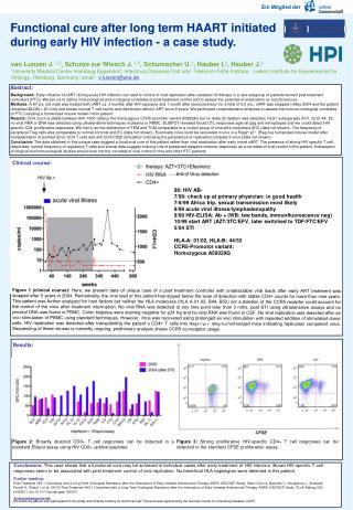 Functional cure after long term HAART initiated during early HIV infection - a case study.
