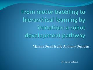 From motor babbling to hierarchical learning by imitation: a robot development pathway