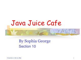 Java Juice Cafe