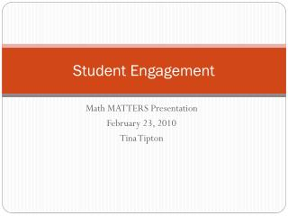 Student Engagement