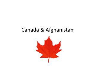 Canada & Afghanistan