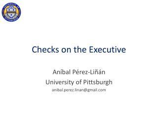 Checks on the Executive