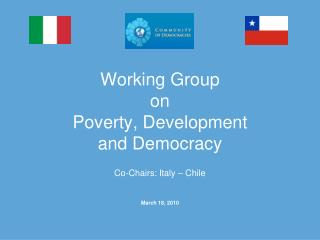 Working Group on Poverty, Development  and Democracy