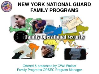 NEW YORK NATIONAL GUARD FAMILY PROGRAMS