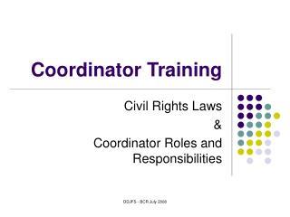 Coordinator Training