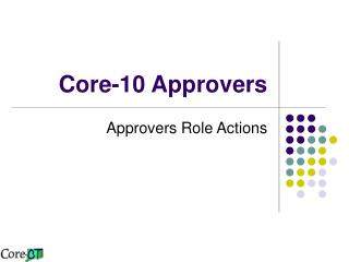 Core-10 Approvers