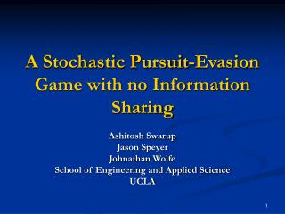 A Stochastic Pursuit-Evasion Game with no Information Sharing