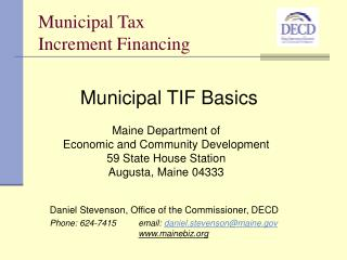 Municipal Tax  Increment Financing