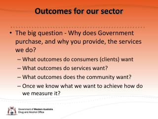Outcomes for our sector