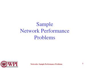 Sample  Network Performance Problems