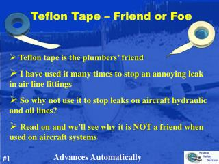 Teflon Tape – Friend or Foe