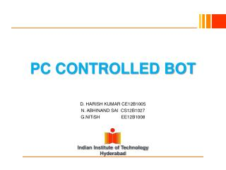 PC CONTROLLED BOT