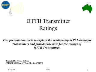 DTTB Transmitter Ratings