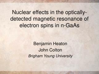Nuclear effects in the optically-detected magnetic resonance of electron spins in n-GaAs