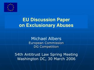 EU Discussion Paper on Exclusionary Abuses