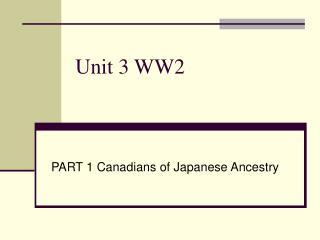 Unit 3 WW2