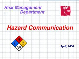 Risk Management  Department