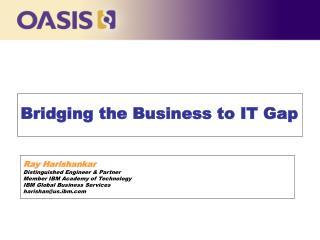 Bridging the Business to IT Gap